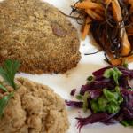 Plato combinado macrobiótico vegano