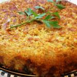Tortilla vegana de lentejas rojas y calabacín