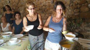 Aumenta tu energía vital con cocina terapéutica.  Platos altos en calcio. @ Ca l'Agnès - Cubelles