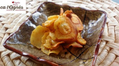 Chips de verduras y fruta: 3 recetas divertidas